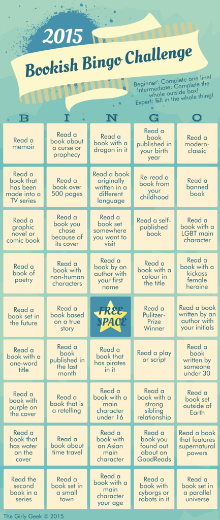 2015 Bookish Bingo Challenge WITHOUT RULES