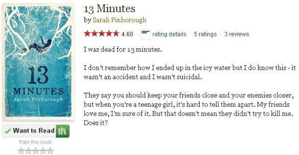 goodreadsblurb13minutes