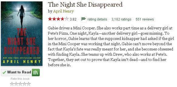 goodreadsblurbthenightshedisappeared