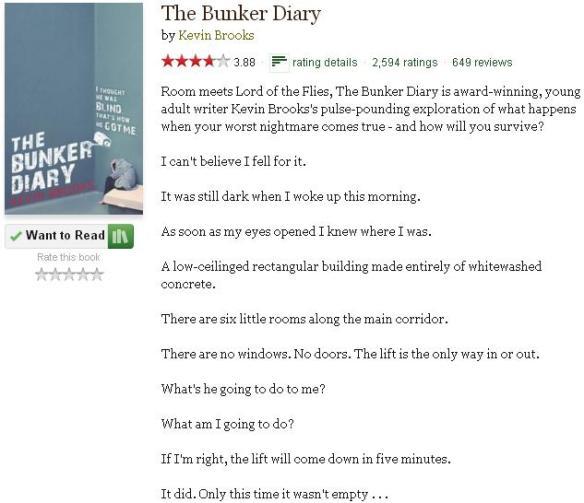 goodreadsblurbthebunkerdiary