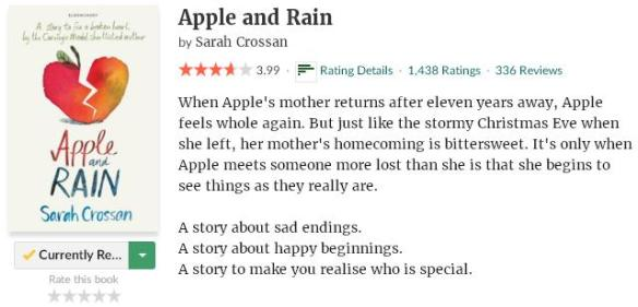goodreadsblurbappleandrain