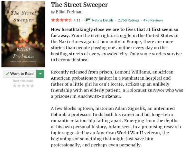 goodreadsblurbthestreetsweeper