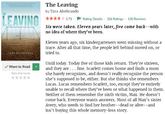 goodreadsblurbtheleaving