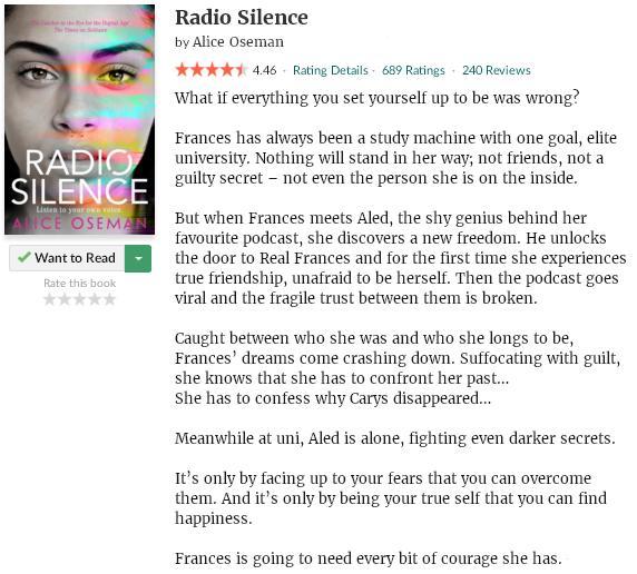 goodreadsblurbradiosilence