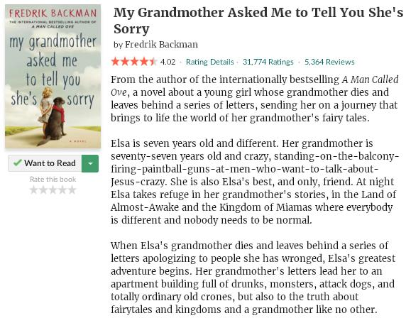 goodreadsblurbmygrandmotheraskedmetotellyoushessorry
